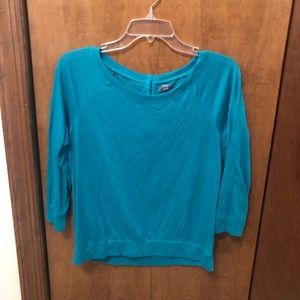 Turquoise 3/4 length sweater